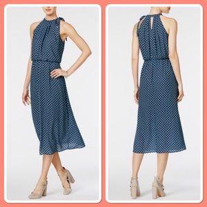 Navy blue and teal lightweight dress size M